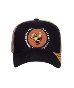 Boné Made in Mato Trucker Rooster Brown