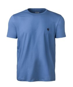 Camiseta Masculina Made in Mato Lisa Azul
