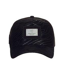 Boné Made in Mato Trucker Nobuck Strips Black