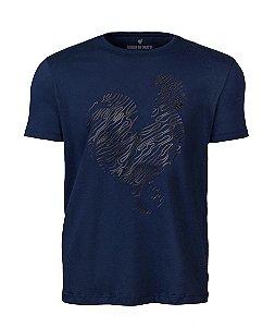 Camiseta Estampa Masculina Marinho Plastisol