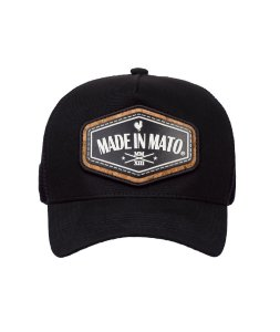 Boné Made in Mato Trucker Cork Black