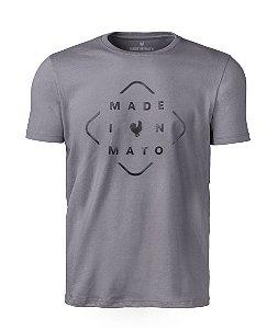 Camiseta Estampa Masculina Losango Chumbo