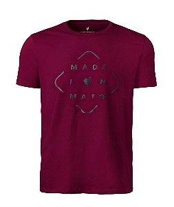 Camiseta Estampa Masculina Losango Bordo