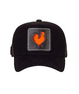 Bone Trucker Rooster Window Orange