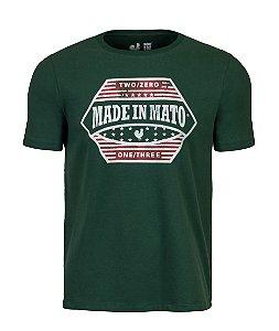 Camiseta Estampada Made in Mato EUA Verde