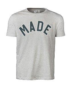 Camiseta Estampada Made in Mato Mescla Escuro