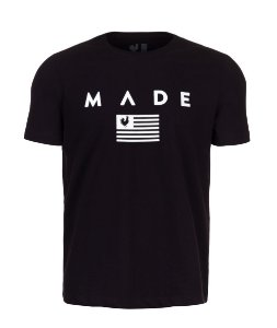 Camiseta Made in Mato Estampada Flag Preta