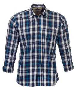 Camisa Masculina Made in Mato Xadrez Blue Mix