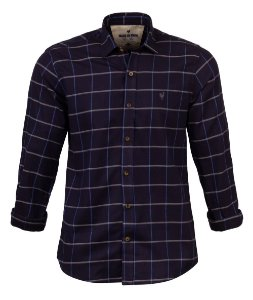 Camisa Made in Mato Flanelada Xadrez Blue Night