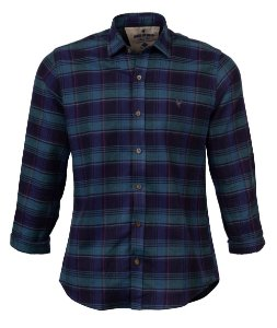 Camisa Made in Mato Flanelada Xadrez Azul Petróleo