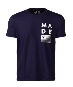 Camiseta Estampada Made in Mato Flag Marinho