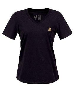 Camiseta Feminina Made in Mato Básica Preta
