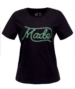 Camiseta Feminina Made in Mato Laço Preto