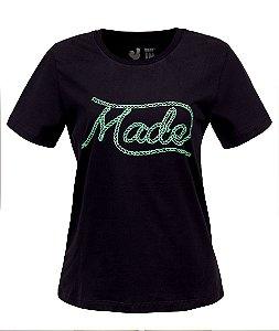 Camiseta Feminina Made in Mato Laço Preto