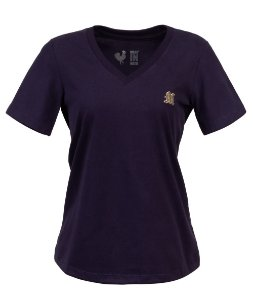 Camiseta Feminina Made in Mato Básica Marinho