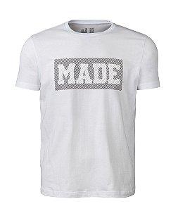 Camiseta Estampada Made in Mato Masculina Branca