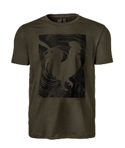 Camiseta Estampada Made in Mato Masculina Musgo