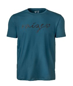 Camiseta Estampada Made in Mato Masculina Azul Petróleo