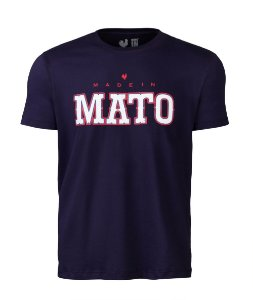 Camiseta Estampada Made in Mato Masculina Marinho