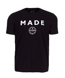 Camiseta Estampada Made in Mato Circle Preta