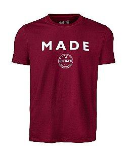Camiseta Estampada Made in Mato Circle Vermelha