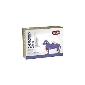Carprofeno 25mg Anti-inflamatório Cães - Ibasa