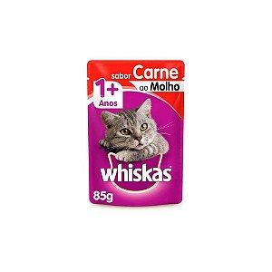 Sache Gatos Sabor Carne ao Molho 85gr - Whiskas