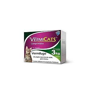Vermicats para Gatos 600mg 04 Comp. - Vansil