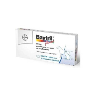 Baytril Flavour 50mg 10 Comprimidos - Bayer