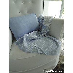 Almofada em Fio Azul