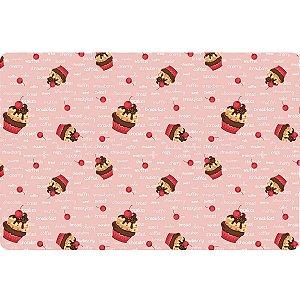 Jogo Americano Cramberry Cupcake c/ 4