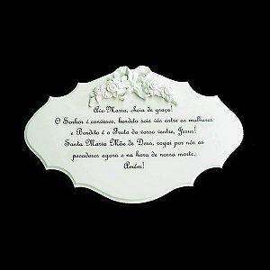 Quadro Madeira Oração Ave Maria