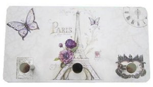 Porta Chaves metal Torre Paris