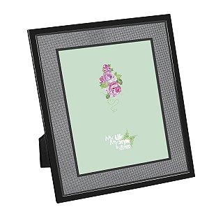 Porta Retrato Preto c/ Glitter 20 x 25 Cm