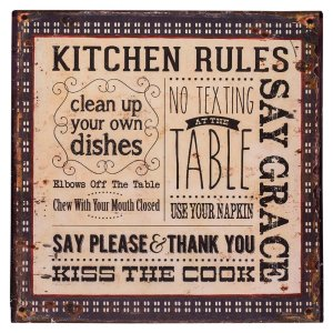 Placa Kitchen Rules