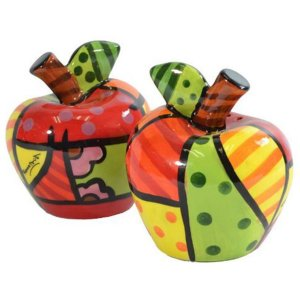 Saleiro e Pimenteiro Apple - Romero Britto