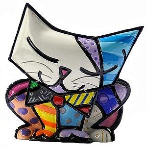 Mini Escultura Gato Sugar - Romero Britto