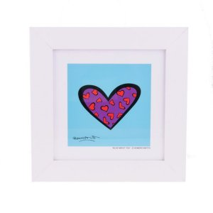 Quadro Romero Britto Blue About You