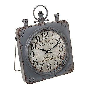 Relógio em Metal Cinza
