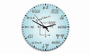 Relógio Parede Matemática
