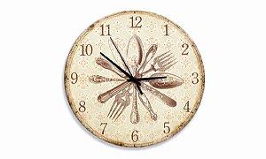 Relógio Parede Talheres