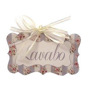 Placa Lavabo Floral c/ Listras