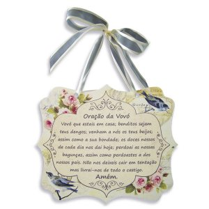 Placa Oração da Vovó