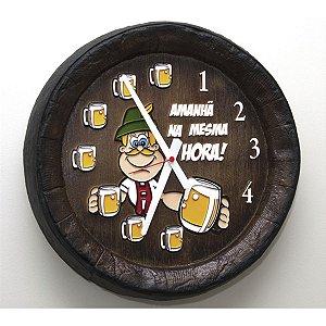 Relógio Barril Mesma Hora