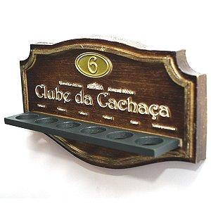 Placa Copos Clube da Cachaça