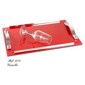 Bandeja Espelhada Vermelha 45 Cm