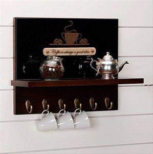 Prateleira c/ Suporte Coffee Room