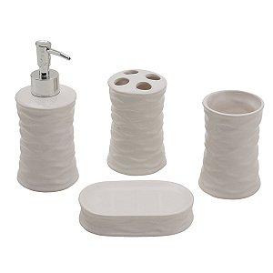 Kit para Banheiro Branco 4 peças
