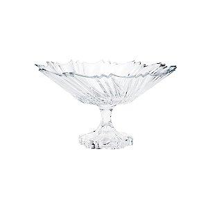 Fruteira de cristal com pé Ikaro 33,5x19cm
