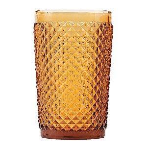 Conjunto 6 copos alto de vidro âmbar 355ml